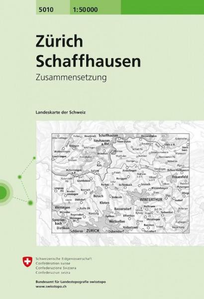 Swisstopo 1 : 50 000 Zürich Schaffhausen