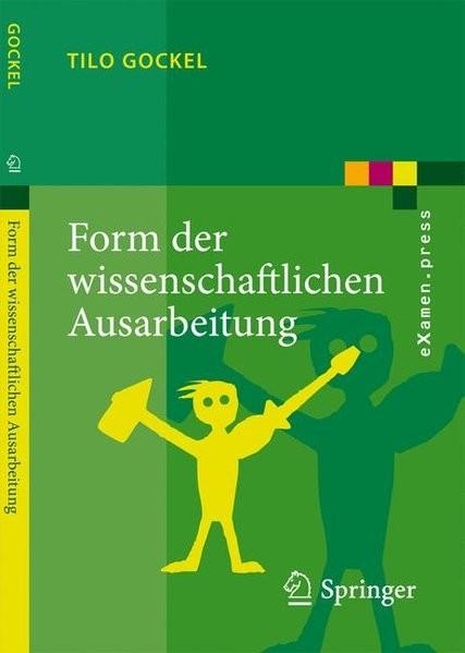 Form der wissenschaftlichen Ausarbeitung: Studienarbeit, Diplomarbeit, Dissertation, Konferenzbeitra