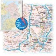 Bacher Postleitzahlenkarte Deutschland Nord-Ost 1 : 350 000. Poster-Karte foliert