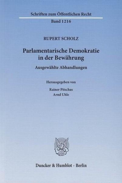 Parlamentarische Demokratie in der Bewährung