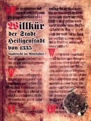 Willkür der Stadt Heiligenstadt aus dem Jahre 1335