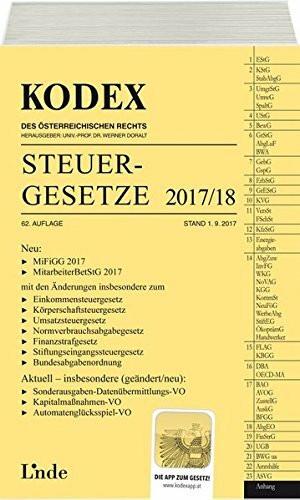 KODEX Steuergesetze 2017/18 (Kodex des Österreichischen Rechts)