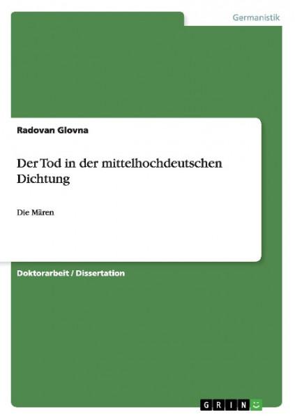 Der Tod in der mittelhochdeutschen Dichtung