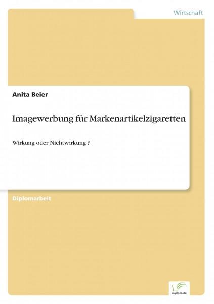Imagewerbung für Markenartikelzigaretten