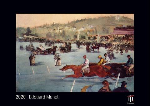Edouard Manet 2020 - Black Edition - Timokrates Kalender, Wandkalender, Bildkalender - DIN A3 (42 x