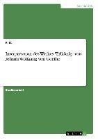 """Interpretation des Werkes """"Erlkönig"""" von Johann Wolfgang von Goethe"""