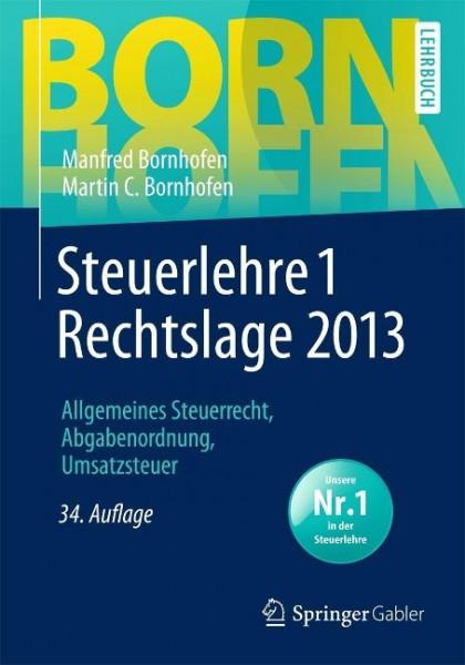 Steuerlehre 1 Rechtslage 2013