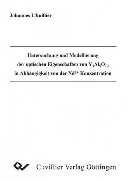 Untersuchung und Modellierung der optischen Eigenschaften von Y Al O in Abhängigkeit von der Nd + Ko