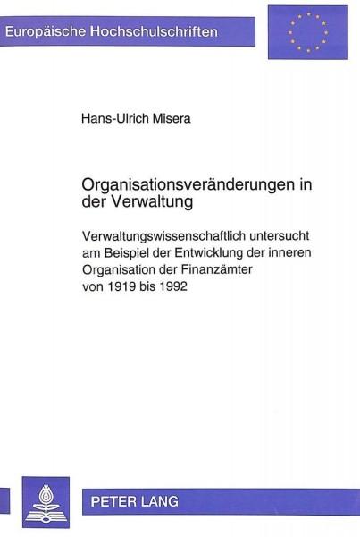 Organisationsveränderungen in der Verwaltung