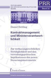 Kontraktmanagement und Ministerverantwortlichkeit