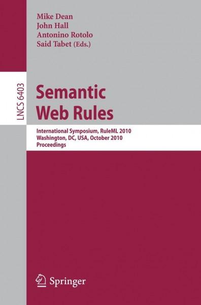 Semantic Web Rules