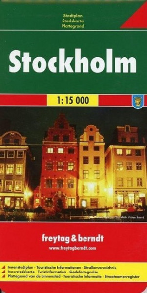 Stockholm 1 : 15 000. Stadtplan