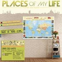 """Welt """"Places of my Life..."""" Posterkarte"""