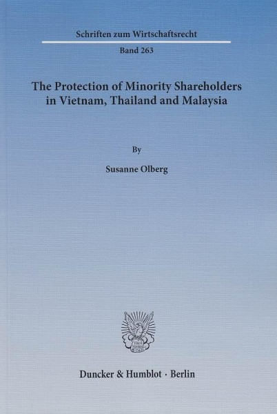 The Protection of Minority Shareholders in Vietnam, Thailand and Malaysia