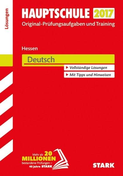 Abschlussprüfung Hauptschule Hessen - Deutsch Lösungsheft