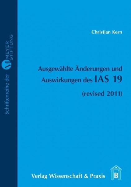 Ausgewählte Änderungen und Auswirkungen des IAS 19
