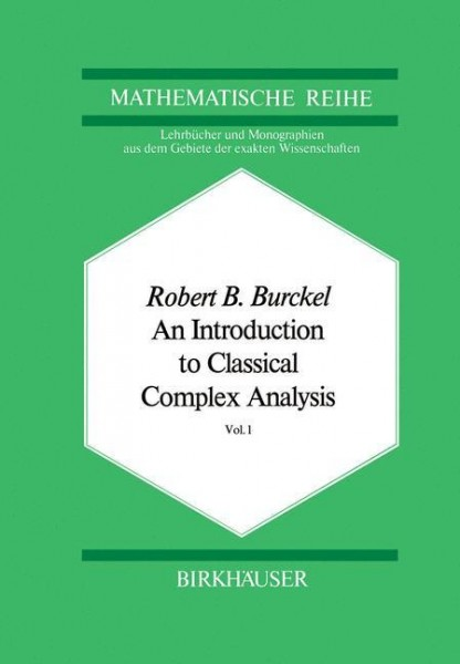 An Introduction to Classical Complex Analysis