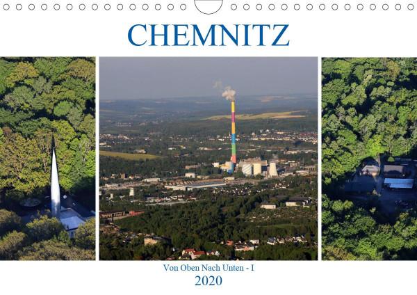 Chemnitz - Von Oben Nach Unten (Wandkalender 2020 DIN A4 quer)