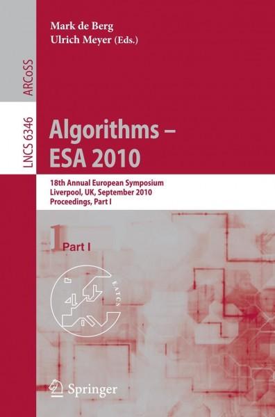 Algorithms -- ESA 2010