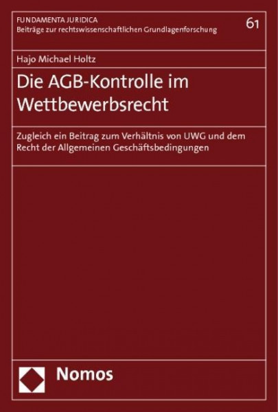 Die AGB-Kontrolle im Wettbewerbsrecht