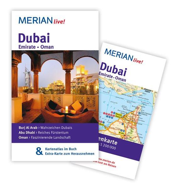 MERIAN live! Reiseführer Dubai Emirate Oman: MERIAN live! - Mit Kartenatlas im Buch und Extra-Karte