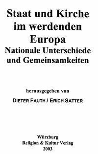 Staat und Kirche im werdenden Europa