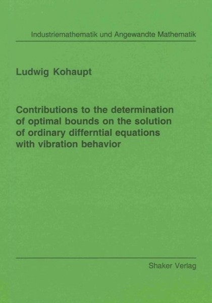 Contributions to the determination of optimal bounds on the solution of ordinary differntial equatio