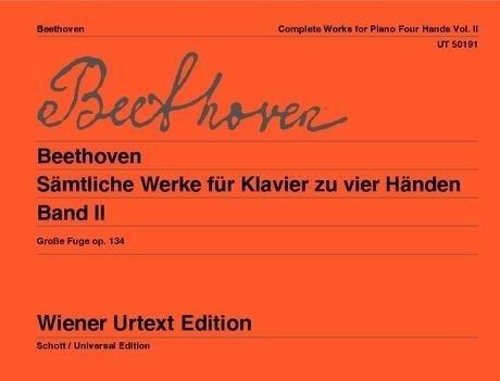 Sämtliche Werke für Klavier zu vier Händen