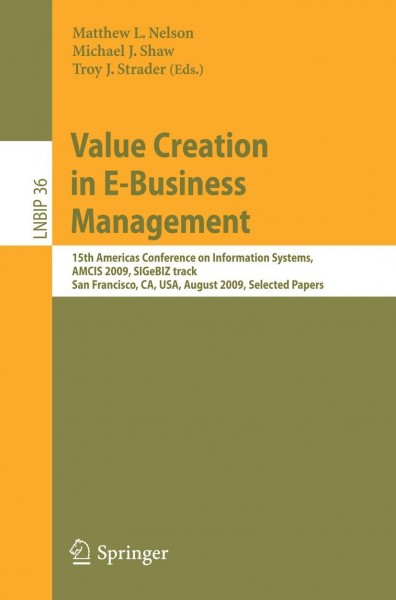 Value Creation in E-Business Management
