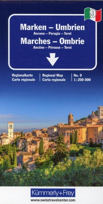 KuF Italien Regionalkarte 09. Marken - Umbrien 1 : 200 000