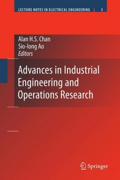 Advances in Industrial Engineering and Operations Research