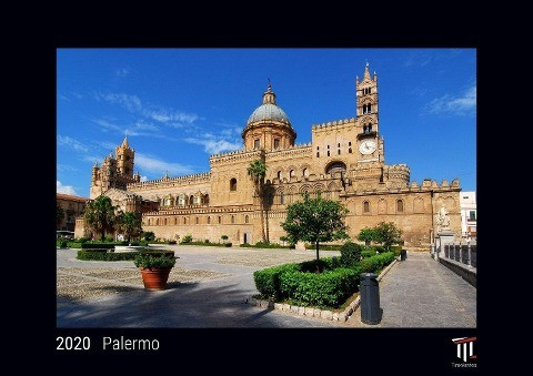 Palermo 2020 - Black Edition - Timocrates wall calendar with UK holidays / picture calendar / photo