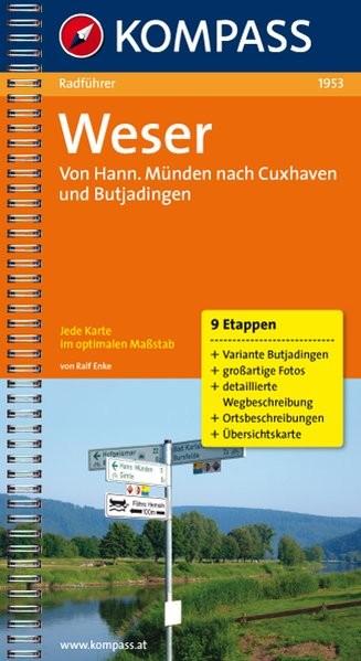 Weser: Radführer mit Top-Routenkarten