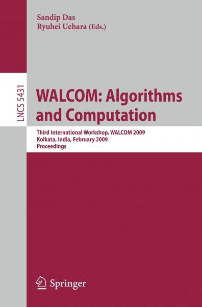 WALCOM: Algorithms and Computation