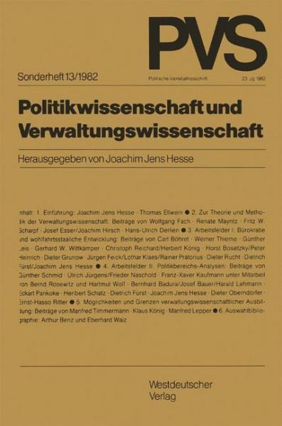 Politikwissenschaft und Verwaltungswissenschaft