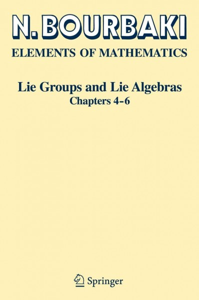 Lie Groups and Lie Algebras. Chapters 4-6