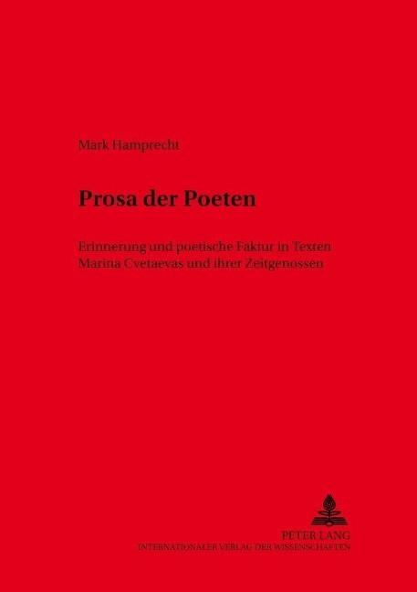 Prosa der Poeten - Hamprecht, Mark Andreas