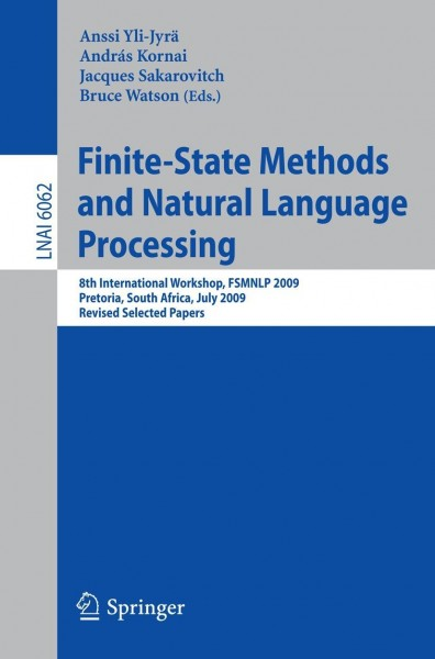 Finate-State Methods and Natural Language Processing